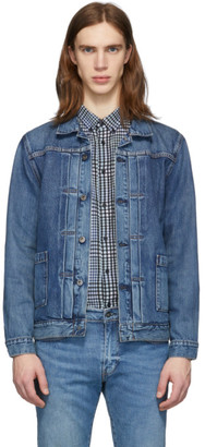 Levis Made and Crafted Blue Denim Type 2 Trucker Jacket