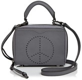 Rebecca Minkoff Perforated Peace Sign Box Crossbody