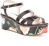 Cole Haan Jianna Printed Floral Wedge Sandals