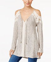 Style&Co. Style & Co. Cold-Shoulder V-Neck Tunic, Only at Macy's