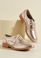 Talking Picture Oxford Flat in Rose Gold in 7