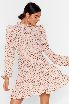 Nasty Gal Womens Steal the Grow Floral Mini Dress - Cream