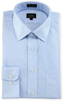 Neiman Marcus Classic-Fit Non-Iron Micro-Check Dress Shirt, Blue