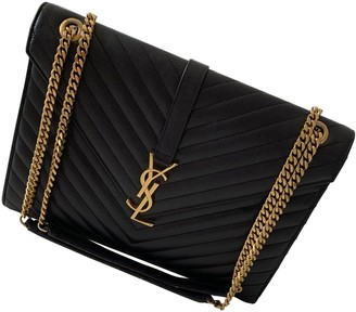 Saint Laurent Satchel monogramme Black Leather Handbags