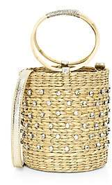 Poolside Women's The Bobbi Crystal-Embellished Straw Bucket Bag