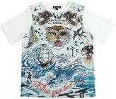 Roberto Cavalli Pirates Printed Cotton Jersey T-Shirt