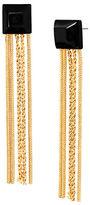 Diane von Furstenberg Cubism Geometric Stone Multi Chain Tassel Gold Earring