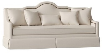 "Gabby Arabella 91"" Recessed Arm Sofa Body Fabric: Liberty Laguna, Nailhead Detail: Brass, Cushion Type: Spring Down"