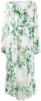 Blumarine Floral-Print Ruffled Dress