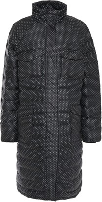 Ganni Printed Quilted Shell Coat