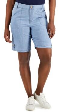 Thumbnail for your product : Karen Scott Denim Bermuda Shorts, Created for Macy's
