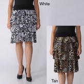 ADI S Max by Women's Tiered Safari Print Skirt