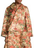 Comme des Garcons Floral Jacquard Cropped Jacket