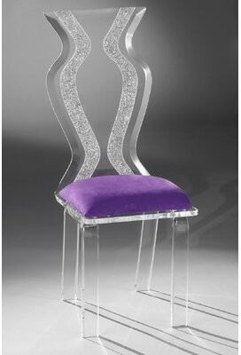 Headen Acrylic Side Chair Brayden Studio Upholstery Color: Violet Microfibre
