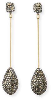 Alexis Bittar Pave Crystal Teardrop Earrings