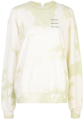 Proenza Schouler White Label Tie-Dye Print Sweatshirt
