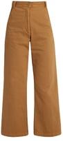 Rachel Comey Bishop high-rise wide-leg cotton-blend trousers