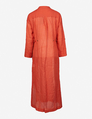 Three Graces London August stretch-cotton midi dress