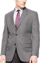 Izod Gray Windowpane Sport Coat - Classic Fit