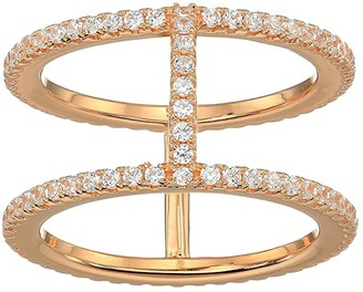 Michael Kors Precious Metal-Plated Sterling Silver Pave Ring Jacket (Rose Gold) Ring
