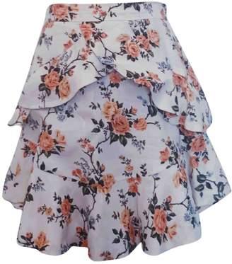 Zimmermann White Linen Skirt for Women
