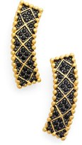 Freida Rothman Frieda Rothman 'Double Helix' Pavé Lattice Ear Crawlers
