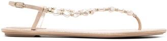 Rene Caovilla Pearl-Embellished Sandals