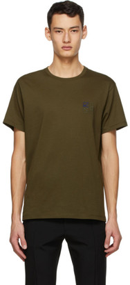 Loewe Khaki Anagram Embroidered T-Shirt