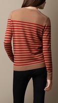 Burberry Striped Cashmere Sweater