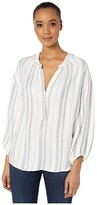 True Grit Dylan By Dylan by Denim Friendly Soft Rayon Stripe Tunic Blouse (Natural) Women's Clothing