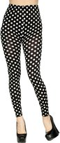 Simplicity Women Polka Dot Pant Ankle Length Footless Legging Tight