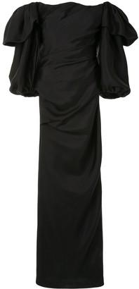Rachel Gilbert Ginny draped gown