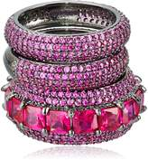 Noir Red Miranda Stackable Ring