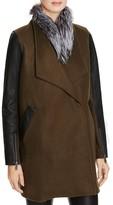 Rebecca Minkoff Tiff Fur-Collar Coat