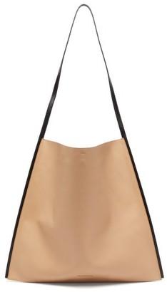 Jil Sander Border Leather Tote Bag - Womens - Beige Multi