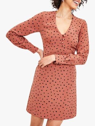 Oasis Spot Shift Dress, Multi