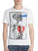 Viktor & Rolf Men's Skull Profile Heart T-shirt - White, Size x-small