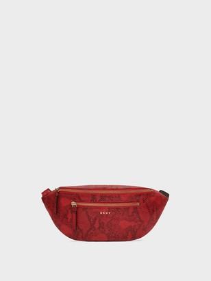 DKNY Sally Snake-embossed Belt Bag