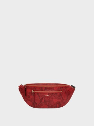 DKNY Sally Snake-embossed Belt Bag