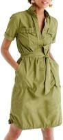 J.Crew Women's Ruffle Hem Utility Shirtdress