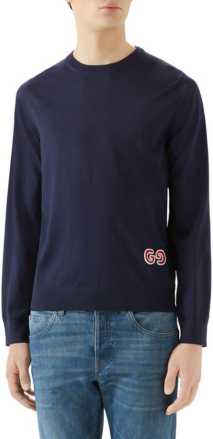 108e56aff Gucci Crewneck Sweater For Men - ShopStyle