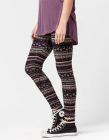 Full Tilt Ethnic Floral Womens Leggings