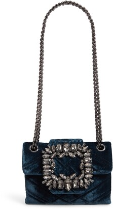 Kurt Geiger London Mini Mayfair Velvet Crossbody Bag