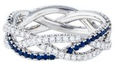 Kwiat 18K Diamond & Sapphire Twist Ring