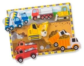 Melissa & Doug Construction Chunky Puzzle