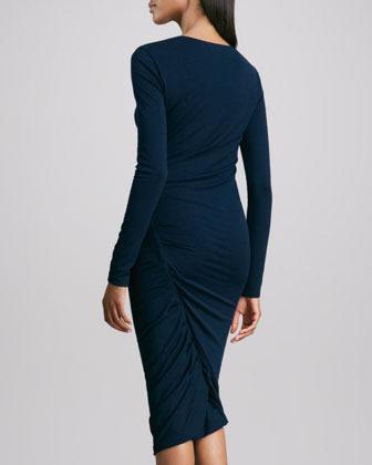 Donna Karan Long-Sleeve Jersey Dress