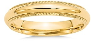 Bloomingdale's 14K Yellow Gold 4mm Milgrain Comfort Fit Wedding Band - 100% Exclusive