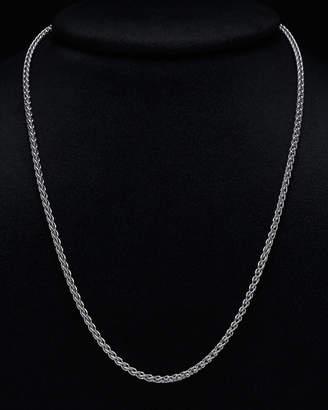Italian Silver Round Wheat Necklace