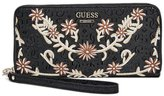 GUESS Arianna Embroidered Zip-Around Wallet