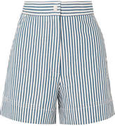 Vanessa Bruno Iparine Striped Cotton Shorts - Blue